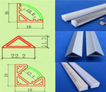 V shape led aluminium profile